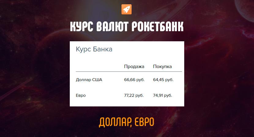 Курс валют Рокетбанк, официальный сайт